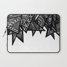 Triangle Henna Print- B+W Laptop Sleeve