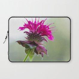 Pink Bee Balm Flower 3 Laptop Sleeve