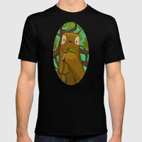 Sally the Sloth MEDIUM Black Mens Fitted Tee