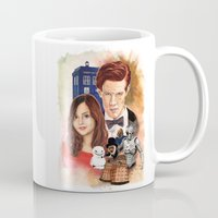 doctor who Mugs featuring Doctor Who by Richard Howard