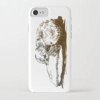 shih tzu iPhone & iPod Cases featuring Little Shih Tzu by Louise Hubbard