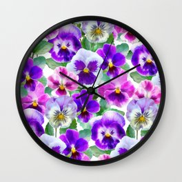 Bouquet of violets II Wall Clock