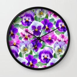 Bouquet of violets II Wall Clock