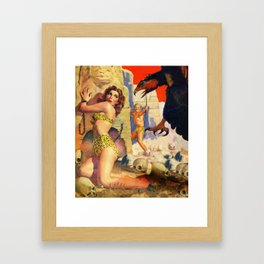 Giant bird attacks! Framed Art Print