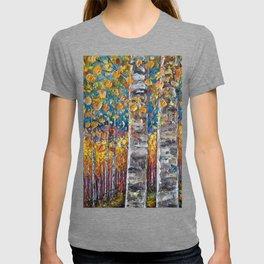 Colorful Autumn Aspen Trees  T-shirt