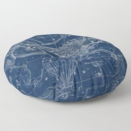 Capricorn sky star map Floor Pillow