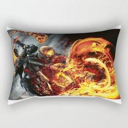 Fire on the road Rectangular Pillow