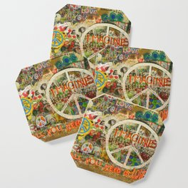 Peace Sign - Love - Graffiti Coaster