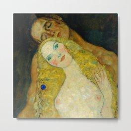 "Gustav Klimt ""Adam and Eve"" Metal Print"