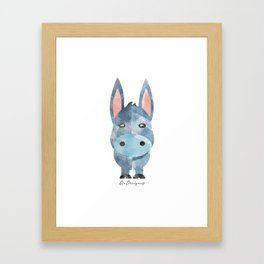 Water Colour Baby Donkey Framed Art Print