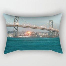 Bridge Architecture Water 4 Rectangular Pillow
