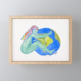 Mother Nature's Embrace Print Framed Mini Art Print