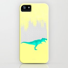 dino got the blues, or not! iPhone Case