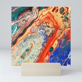 Acrylic Pour Four Mini Art Print