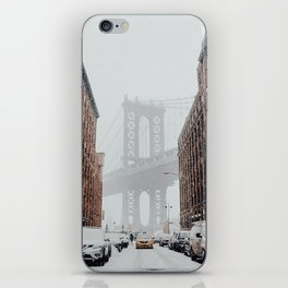 winter in new york city iPhone Skin