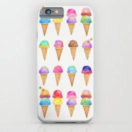 Summer Ice Cream Cones iPhone Case