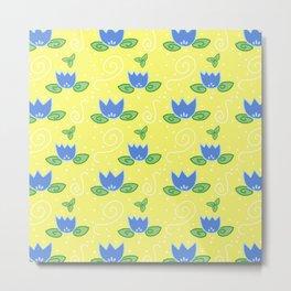 Blue Tulips Metal Print