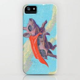 flying pig - by phil art guy iPhone Case