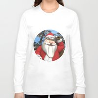 santa Long Sleeve T-shirts featuring Santa by Design Windmill