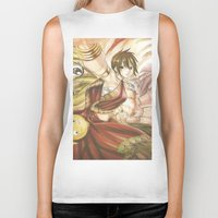 fairy tail Biker Tanks featuring fairy tail eclaire by 6alba