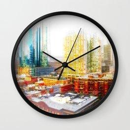 Outside The City Wall Clock
