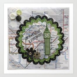 Awesome London Green Art Print