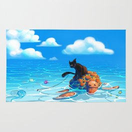 A hot summers day Rug