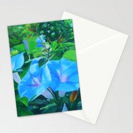 Morning Glory Flowers Stationery Cards