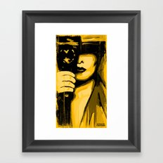 Vintage Camera Girl Framed Art Print