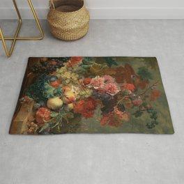 "Jan van Huysum ""Fruit Piece"" Rug"