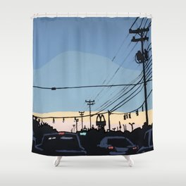 Reidville Road at Sunset Shower Curtain