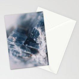 Blue Raw  Kyanite Crystal Stationery Cards