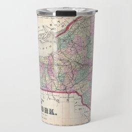 Historical Vintage Map of New York Travel Mug