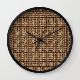 menmenmenvintagepatternhairstyles Wall Clock