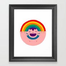 Rainbow Kid Framed Art Print