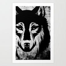 The Grey Wolf Art Print