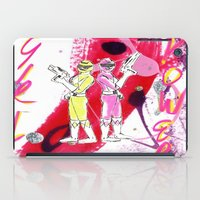 power rangers iPad Cases featuring Girl Power! by Kenni Adamson