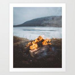 Cozy Campfire Art Print