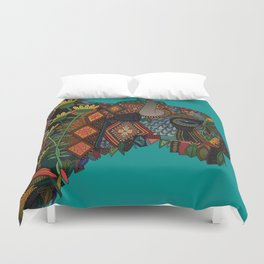 bison teal Duvet Cover