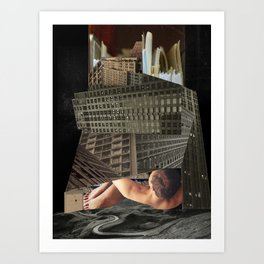 Kafka's The Castle Art Print