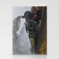 ashton irwin Stationery Cards featuring Rood Ashton Hall steam locomotive by PICSL8