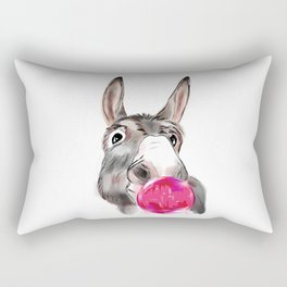 Donkey with bubble Rectangular Pillow