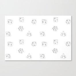 D&D Dungeon Master Pattern Canvas Print