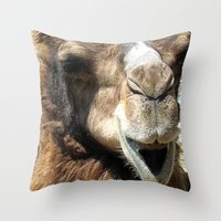 camel Throw Pillows featuring camel by Laura Grove
