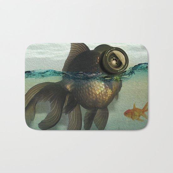 Fish eye lens Bath Mat