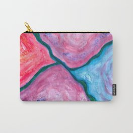 Divided - Asbtract Purple Watercolor Carry-All Pouch
