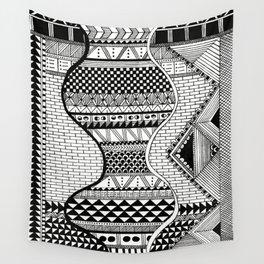Wavy Geometric Patterns Wall Tapestry