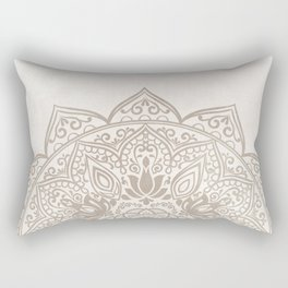 Brown Beige Taupe Mandala - right side Rectangular Pillow