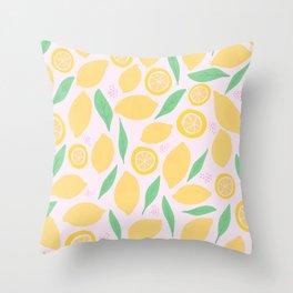 Pink Lemonade II Throw Pillow