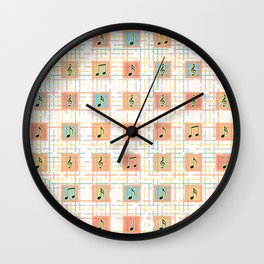 Music notes IV Wall Clock